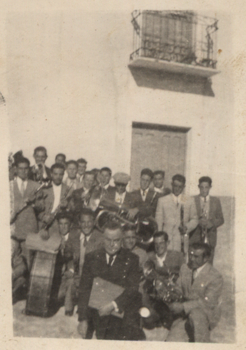 Banda de Música de Gervasio el Civil a principios de los años 50 del siglo XX