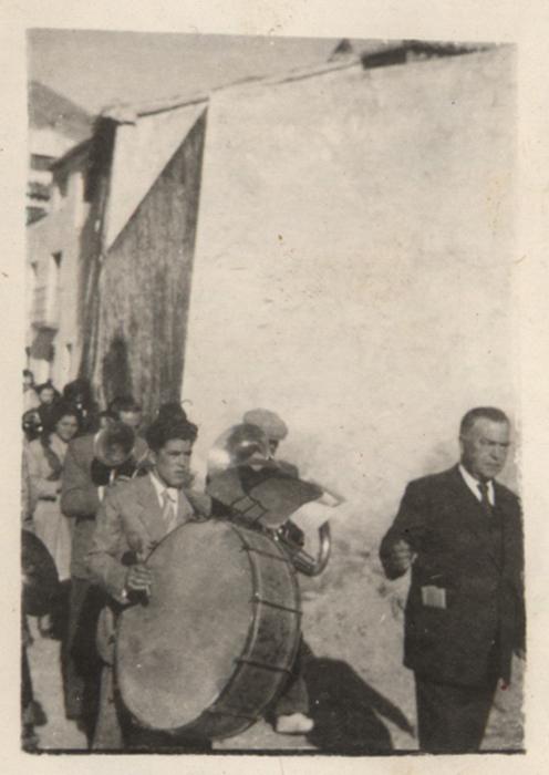 La Banda de Música de Gervasio el Civil en la procesión de San Sebastián
