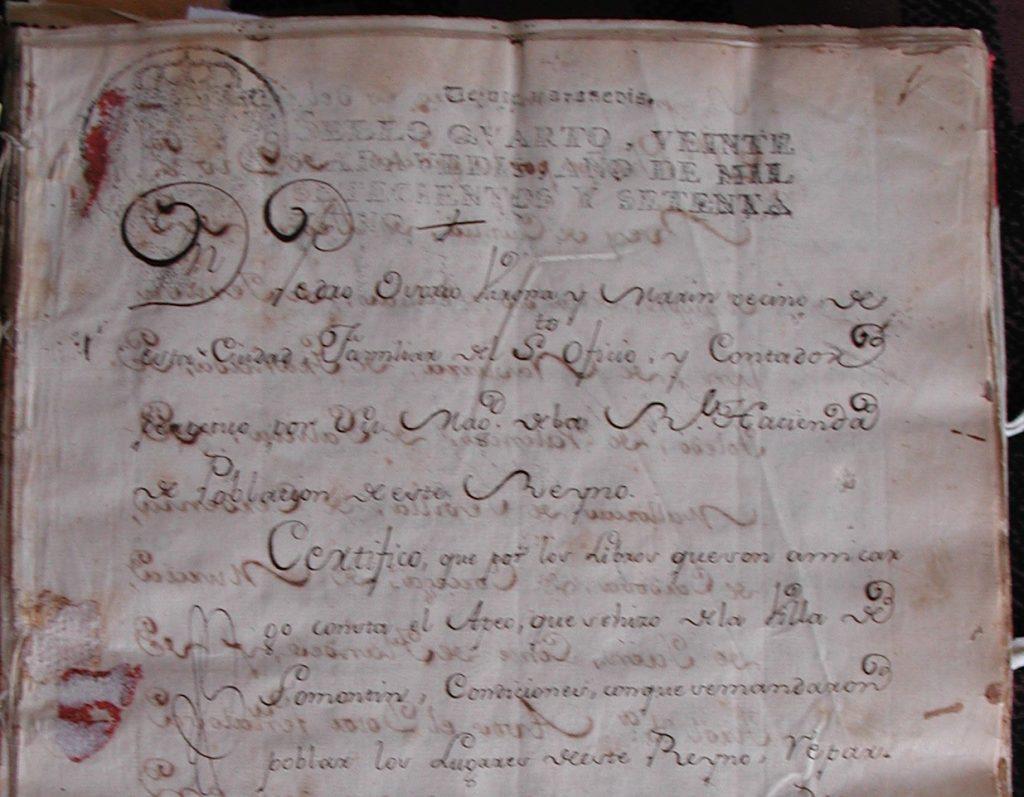 Certificación del Libro de Apeo y Repartimiento de Somontín