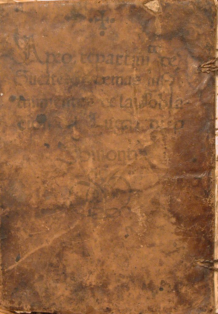 Portada de la copia del libro de Apeo y Repartimiento de Somontín