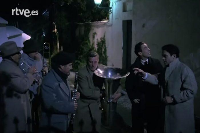 Baldomero Oliver Acosta actuando en la serie «Lorca, muerte de un poeta»