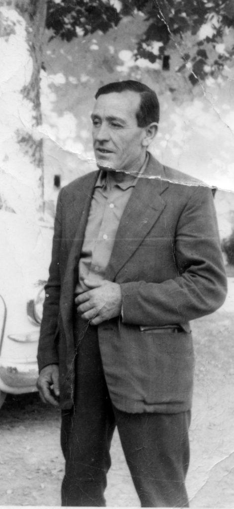 """Antonio Acosta Brocal """"el Faustina"""", en los Caños, años 1960. (Colección: Manuel Acosta Acosta)"""