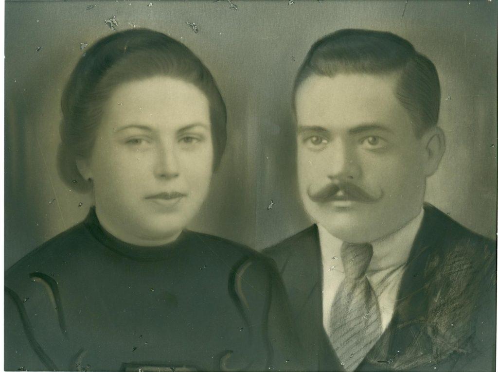 Isabel Cañabate y Amador Sánchez, que tuvieron la desgracia de perder a su hijo en la guerra, sin tener noticias de su paradero ni circunstancias. (Foto cedida por: Remedios Sánchez Cañabate)